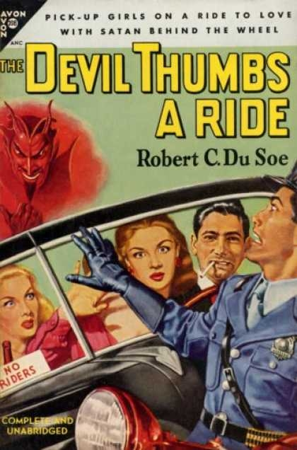 Booktending  2012 It s time once again to  without benefit of reading the actual book  look  at the backstory of a vintage book  Today s victim is The Devil Thumbs A  Ride by